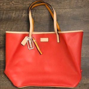 Orange Coach tote